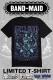 復刻カラー BAND-MAID KAgaMIデザインTシャツ BLUE×PURPLE