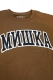 MISHKA(ミシカ) CYRILLIC VARSITY T-SHIRT FL 171103 COFFEE