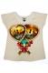 LUCKY13 HEART LOCKS LADIE'S T-Shirt WHT