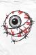 MISHKA(ミシカ) ENTANGLED KEEP WATCH L/S TEE (WHITE/FL171104LSWHT)