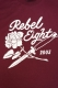 REBEL8 ROSE AND DAGGERS SOFT BURGUNDY TEE