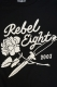 REBEL8 ROSE AND DAGGERS SOFT BLACK TEE