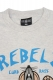 REBEL8 CURB RATS ASH GREY TEE