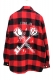 STAY SICK CLOTHING Eternal Love Red/Black Flannel Shirt