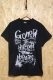 GoneR Message T-Shirts - Black