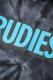 RUDIE'S SOLID PHAT DYED HOOD SWEAT BLACK/BLUE