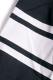 PUNK DRUNKERS フットボール風7分シャツ BLACK/WHITE