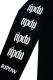 RIP DESIGN WORXX 2TONE ロングTシャツ【ブラック×チャコール】