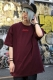 REBEL8 MYERS EMBROIDERED TEE BURGUNDY