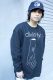SILLENT FROM ME DIVINITY -Crew Sweat- BLACK