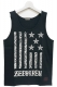 Zephyren(ゼファレン) TANK TOP -REBEL FLAG- BLACKxWHITE