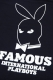 FAMOUS STARS AND STRAPS INTERNATIONAL PLAYBOYS TEE BLACK