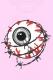 MISHKA(ミシカ) ENTANGLED KEEP WATCH T-SHIRT FL 171104 PNK