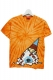 MISHKA TIE DYE SOFT CREAM KEEP WATCH TEE ORANGE
