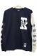RIP DESIGN WORXX 2TONE ロングTシャツ 【ネイビー×グレー】