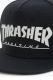 THRASHER MAG LOGO ラバープリント平ツバキャップ BLACK×GRAY