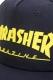 THRASHER MAG LOGO ラバープリント平ツバキャップ NAVY