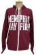 MEMPHIS MAY FIRE Logo Maroon - Zip Up