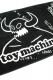 TOY MACHINE TMS18TW35 TOWEL BLACK