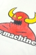 TOY MACHINE TMS18ST24 PIGMENT PRINT TEE WHITE