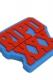 RIP DESIGN WORXX STRAIGHT EDGE RUBBER KEY HOLDER BLUE/RED