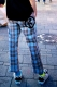 ROLLING CRADLE WIDE CHECK PANTS / White-Red