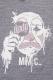 RIP DESIGN WORXX MIMIC MASK Tシャツ VINTAGE CHACOAL
