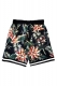 ROLLING CRADLE FLORAL SHORTS / Black