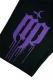 RIP DESIGN WORXX メルトロゴハーフパンツ 黒x紫