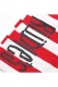 RUDIE'S 85003 DRAWING BORDER SHORTS RED/WHITE