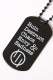 SILLENT FROM ME BLACK LOCK -Key Ring-