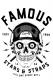 FAMOUS STARS AND STRAPS (フェイマス・スターズ・アンド・ストラップス) SKULL DRUMMER TANK WHT