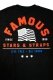 FAMOUS STARS AND STRAPS (フェイマス・スターズ・アンド・ストラップス) LIVE FREE TEE BLK