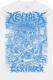 【ゲキクロ限定】KEYTALK × ゲキクロ スペシャル・コラボ LS Tシャツ 2018 WHITE / BLUE