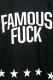 FAMOUS STARS AND STRAPS (フェイマス・スターズ・アンド・ストラップス) EFFIN FAMOUS TEE BLK