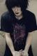 アマツカミ × 黒百合と影 「吐」Tシャツ BLACK