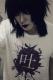 アマツカミ × 黒百合と影 「吐」Tシャツ WHITE
