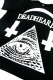 "DEADHEARTZ ""WORLD""TEES BLACK"