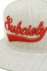 Subciety (サブサエティ) SNAP BACK CAP -GLORIOUS- GRAY-RED