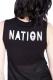 DISTURBIA CLOTHING ALIEN NATION MESH CROP