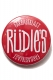 RUDIE'S CAN BADGE DRAWING RED