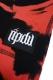 RIP DESIGN WORXX Tie-Dye ハーフパンツ RED
