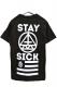 STAY SICK CLOTHING New Symbol Logo Black