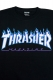 THRASHER TH91130 FLAME MAG LOGO S/S BLK/WHT