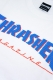 THRASHER TH91206 BAR MAG LOGO S/S WHT/BLU