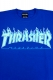 THRASHER TH91130 FLAME MAG LOGO S/S ROYAL/OPAL