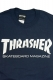 THRASHER TH8101 MAG LOGO TEE NAV/WHT