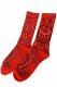 SPITFIRE Paisley socks RED