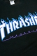 THRASHER TH94130 FLAME MAG LOGO SWEA BLK/WHT