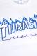 THRASHER TH94130 FLAME MAG LOGO SWEA WHT/WHT